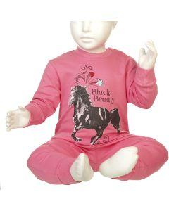 MEISJESPYJAMA HORSE ROSE
