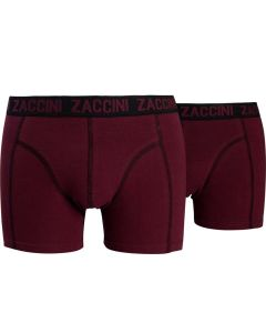 ZACCINI 2-PACK HERENBOXERSHORTS BORDO