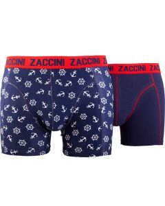 ZACCINI 2-PACK HERENBOXERSHORTS NAUTICAL & NAVY